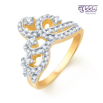 Sukkhi Pleasing Gold and Rhodium Plated CZ rings(156R780)