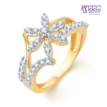 Sukkhi Artistically Crafted Gold and Rhodium Plated CZ rings(158R500)