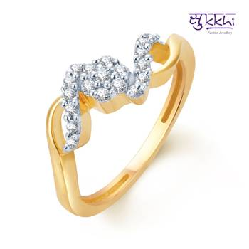 Sukkhi Ritzzy Gold and Rhodium Plated CZ rings(160R310)