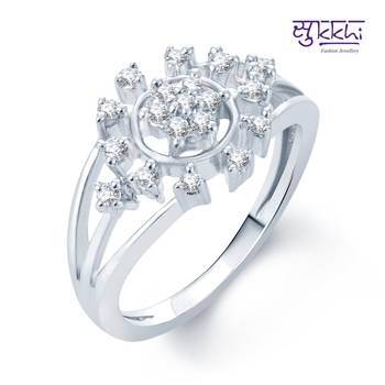 Sukkhi Bewitching Rhodium Plated CZ rings(163R400)