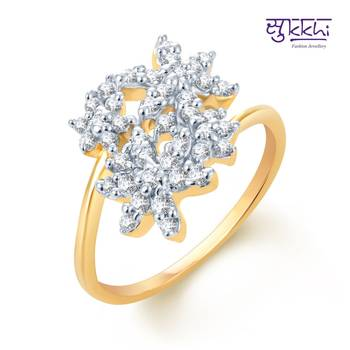 Sukkhi Fine Design Gold and Rhodium Plated CZ rings(168R550)
