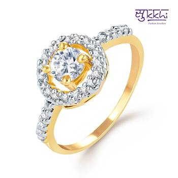 Sukkhi Pretty Gold and Rhodium Plated CZ rings(169R720)
