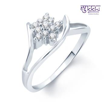 Sukkhi Fancy Rhodium Plated CZ rings(170R280)