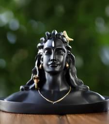 crafTycoon Adiyogi Shiva Statue Figurine For Car Dashboard Decorative Showpiece