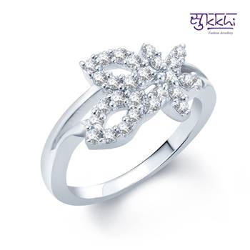 Sukkhi Exquitely Crafted Rhodium Plated CZ rings(174R460)