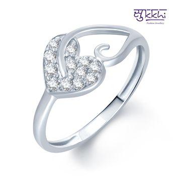 Sukkhi Pleasing Rhodium Plated CZ rings(179R250)
