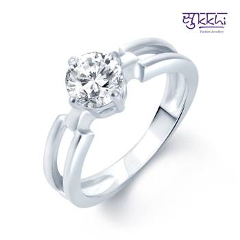 Sukkhi Delightful Rhodium Plated CZ rings(180R460)