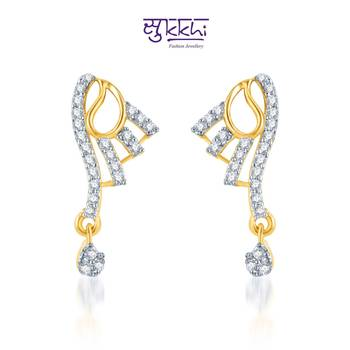 Sukkhi Fine Design CZ Gold and Rhodium Plated mangalsutra(155M1770)