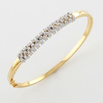 Versatile American Diamond Bracelet With Silver Rhodium