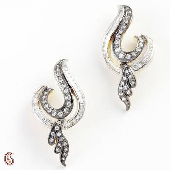 Oxidized Earring Set with Trendy design