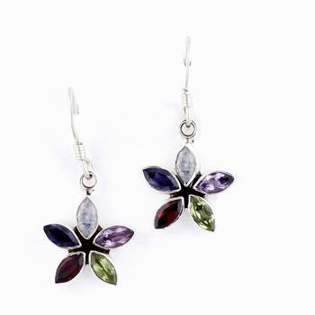 Exploring Handcrafted Silver Earrings In Gemstone Marquise_10