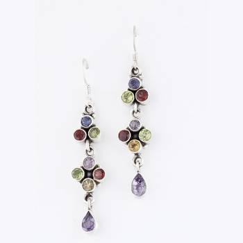 Magical Chandlier Design Earrings With Faceted Gemstones_21