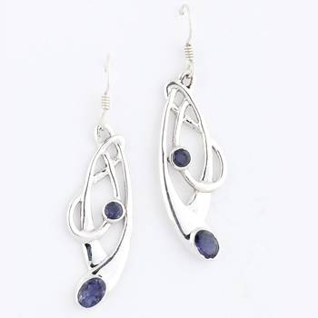 Ready To Party-Iolite Pair Of Earrings In Sterling Silver_23