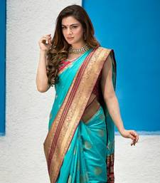Shraddha Arya Designer Firozi Party Wear Silk Saree