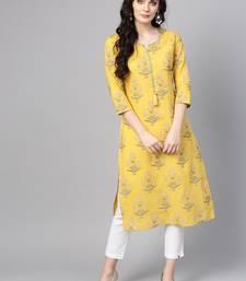 Mustard Marigold Cotton Straight Kurta