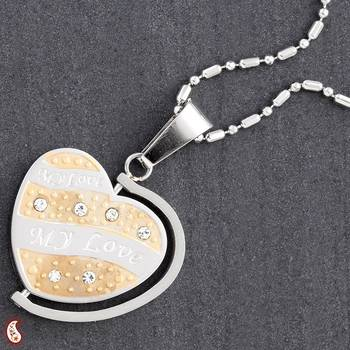 My Love Pendant with gold Polish