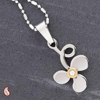 Silver Polish Clover Pendant