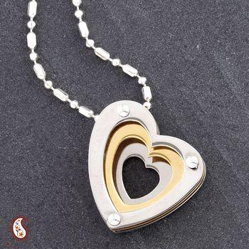 Tri heart CZ Pendant