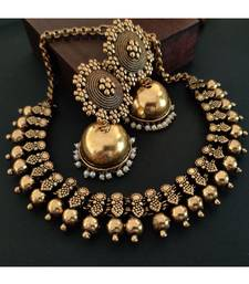Golden Necklace With Jhumka