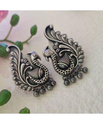 Antique Poslish Peacock Earring