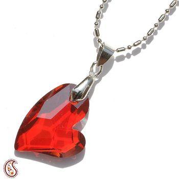 Red Multicut Crystal pendant