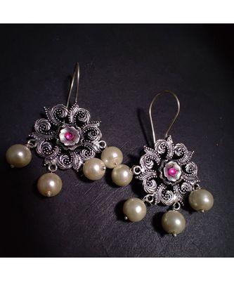 Pink Stone earring