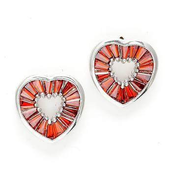 Bohemian Heart shaped Crystal Earrings