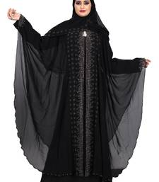 Khadija Fashion, Women's Nida Soft Fabric, Heavy Designer Farasha Pattern Traditional Burqa With Dupatta.