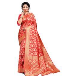 Women's Gazri Art Silk Banarasi Saree With Blouse Piece