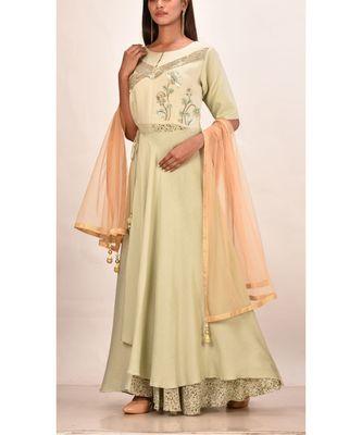 multicolor  muslin silk short sleeves solid women gown
