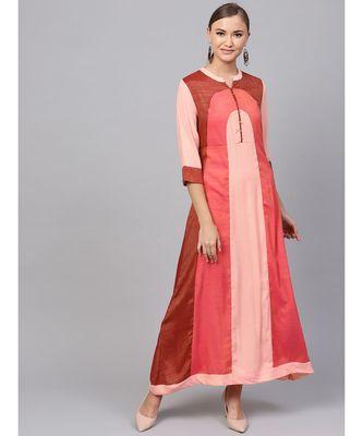 Indo Era Multi Colourblocked A-line Kurta