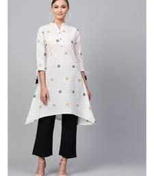 Indo Era cream south cotton Saga High-Low Kurta