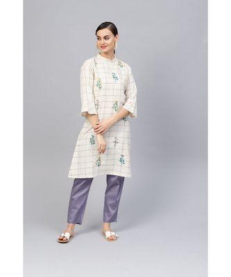 Indo Era Embroidered A-Line Kurtas