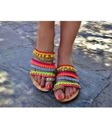 Strips Colorful Flat Sandal