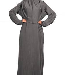 Plain Lycra Stretchable Daily Wear Burqa With Hijab Style For Women