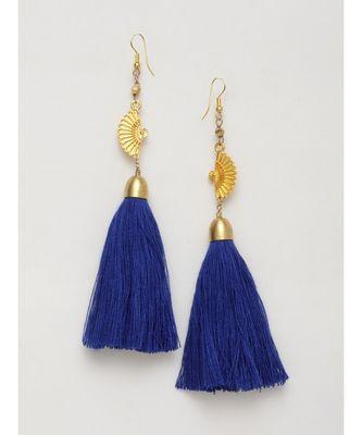 Half Circle Designer Tassel Earrings