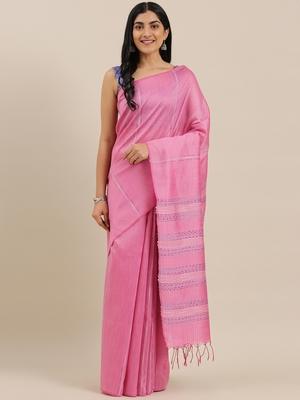The Chennai Silks Rose Dupion Saree With Running Blouse