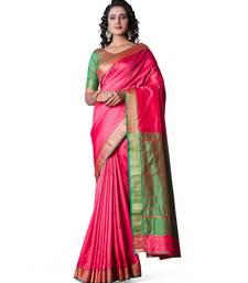 PINK  Banarasi Soft Silk  Saree With Blouse