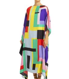 JSDC Calf Length Printed Softy Silk Kaftan For Women