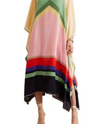 JSDC Occasion Wear Printed Softy Silk Kaftan For Women
