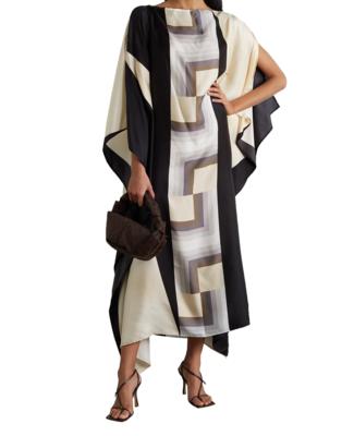 JSDC Lounge Wear Printed Softy Silk Kaftan For Women