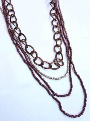 Funky Multi-layered Beads Neckpiece