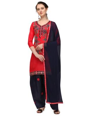 peach New patiala dress Salwar Suit Material.