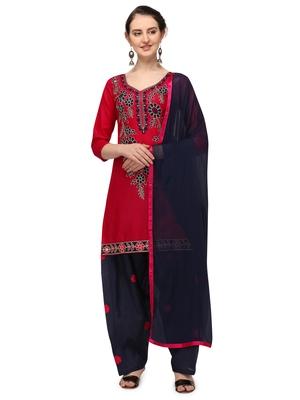 pink New patiala dress Salwar Suit Material.