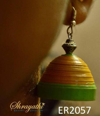 Yellow Paper Jhumka