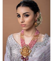Yellow Gold Pink kundan Jewellery