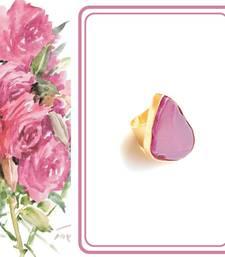 Semi precious candy colour Druzy Statement Ring
