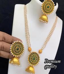Ad Stone Diamond Studded Designer Multi Pearls Necklace  set For women Jewellery