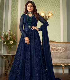 Blue Georgette With EMbroidered work SHAMITA SETTY Gwon