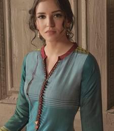 Angarika Kurti with Blue color and Printed